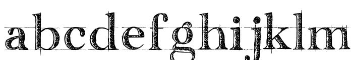 handwriting-draft_free-version Font LOWERCASE