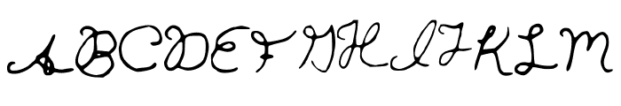 hannahfont Font UPPERCASE
