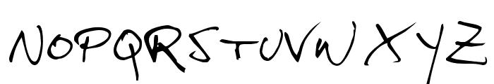 hans hand Font UPPERCASE