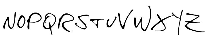 hans hand Font LOWERCASE