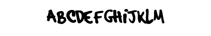 hardcore_pen_alternate Font UPPERCASE