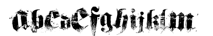 hardcorium Font UPPERCASE