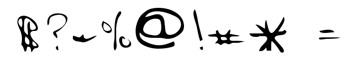 Hak Regular Font OTHER CHARS