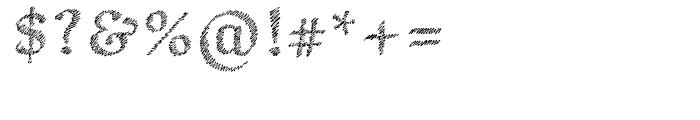 Hachura Regular Font OTHER CHARS