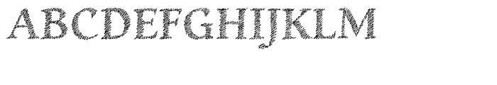 Hachura Regular Font UPPERCASE