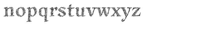 Hachura Regular Font LOWERCASE