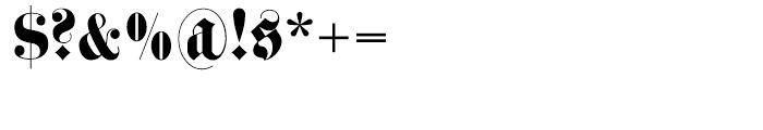 Haenel Fraktur Regular Font OTHER CHARS