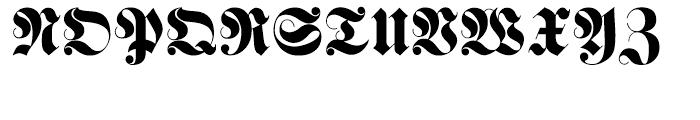 Haenel Fraktur Regular Font UPPERCASE