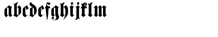 Haenel Fraktur Regular Font LOWERCASE