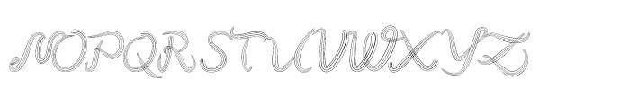 Hair Regular Font UPPERCASE