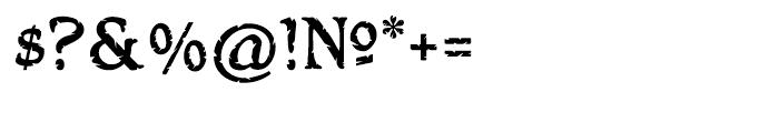 Hamlet Headstone Regular Font OTHER CHARS