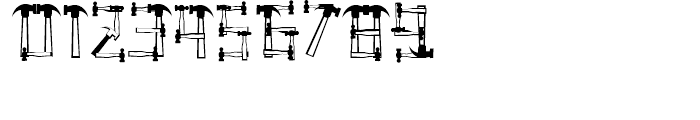 Hammered Regular Font OTHER CHARS