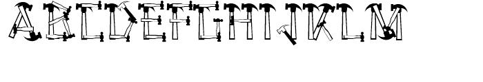 Hammered Regular Font UPPERCASE