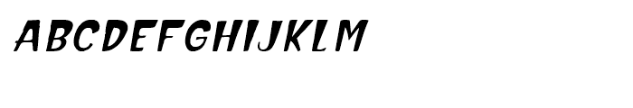 Hammerhead Oblique Font LOWERCASE