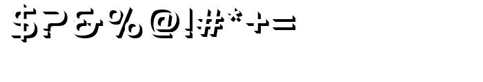 Handel Gothic Onlyshadow Medium d Font OTHER CHARS