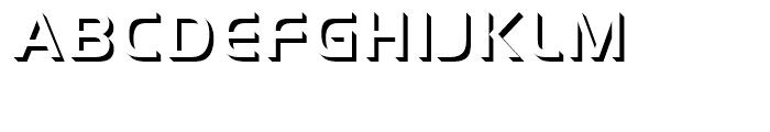 Handel Gothic Onlyshadow Medium d Font UPPERCASE
