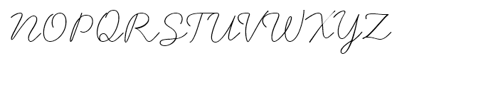 Handsome Thin Font UPPERCASE