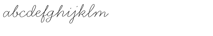 Handsome Thin Font LOWERCASE