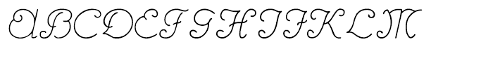 Hannover Regular Font UPPERCASE