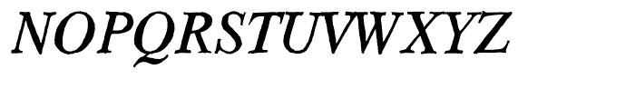 Hard Times Italic Font UPPERCASE