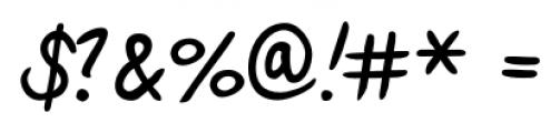Hakon Handwriting Regular Font OTHER CHARS