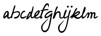 Hakon Handwriting Regular Font LOWERCASE