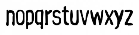 Hand Stamp Gothic Rough Regular Font LOWERCASE