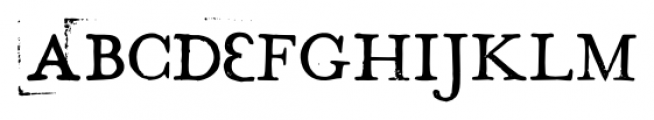 Hand Stamp Play Rough Serif Bold Font UPPERCASE