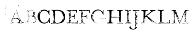 Hand Stamp Play Rough Serif Regular Font LOWERCASE