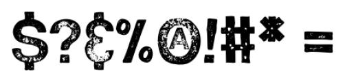 Hand Stamp Swiss Rough Sans Regular Font OTHER CHARS