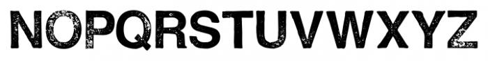 Hand Stamp Swiss Rough Sans Regular Font LOWERCASE