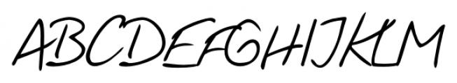 Handschrift Cursive Font UPPERCASE