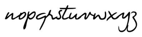 Handschrift Cursive Font LOWERCASE