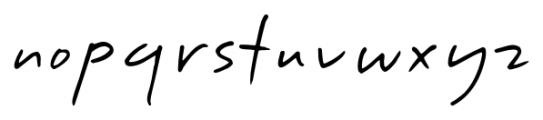 Handschrift Print Font LOWERCASE