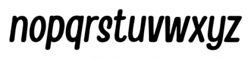 Handy Casual Condensed Oblique Font LOWERCASE