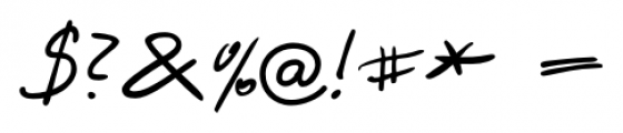 Harico Handwriting Pro Regular Font OTHER CHARS