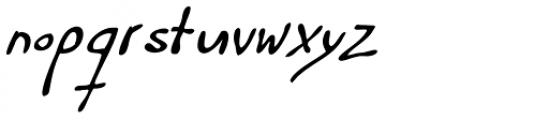 Haakke Slanted Font LOWERCASE