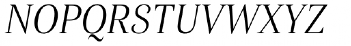 Haboro Con Light Italic Font UPPERCASE