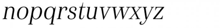 Haboro Con Light Italic Font LOWERCASE