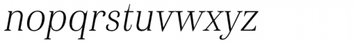 Haboro Con Thin Italic Font LOWERCASE