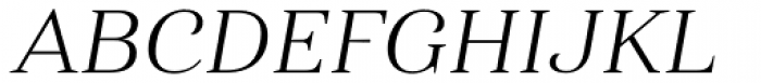 Haboro Ext Light Italic Font UPPERCASE
