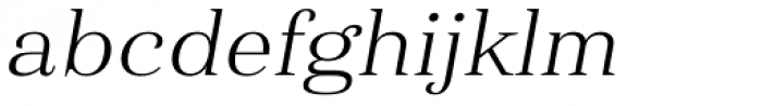 Haboro Ext Light Italic Font LOWERCASE