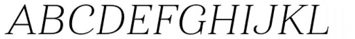 Haboro Ext Thin Italic Font UPPERCASE
