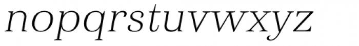Haboro Ext Thin Italic Font LOWERCASE