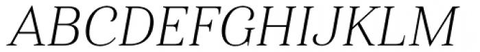 Haboro Nor Thin Italic Font UPPERCASE