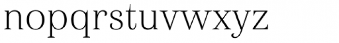 Haboro Nor Thin Font LOWERCASE