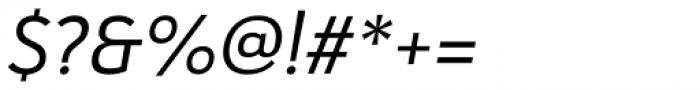 Haboro Sans Norm Regular Italic Font OTHER CHARS