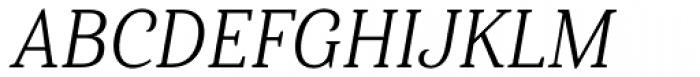 Haboro Serif Condensed Book Italic Font UPPERCASE