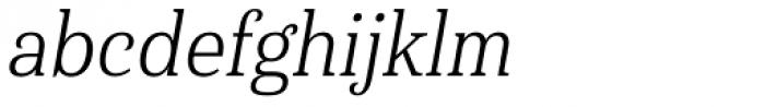 Haboro Serif Condensed Book Italic Font LOWERCASE