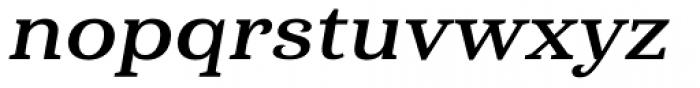 Haboro Serif Extended Bold Italic Font LOWERCASE
